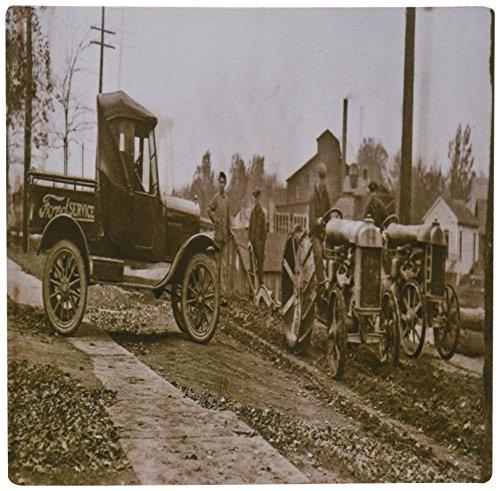 3drose LLC 20,3x 20,3x 0,6cm 1920er Ford Service und LKW und Traktoren Mauspad (MP 16208_ 1) - Ford-lkw-bilder
