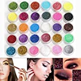 Neverland Professionelle 30 Mixed-Farben-Funkeln Mineral Lidschatten Augen Make-up Lidschatten Pigmente Powder