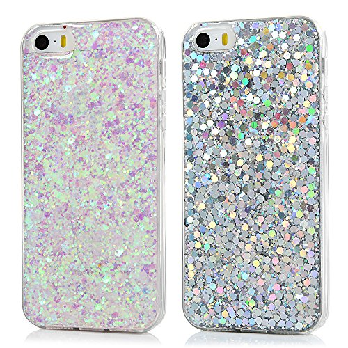 Iphone Se Case Glitter Iphone 5s Case Silicone Lanvy Clear Shinny