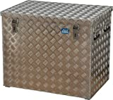 ALUTEC Alu-Transportkiste Riffelblech - 234 l Inhalt - LxBxH 772 x 525 x 645 mm - Alu-Box Alu-Kiste Alu-Transportbox Alu-Transportkiste Kiste für Pritsche Kisten für Pritsche Pritschenbox Pritschenboxen Transportbox Transportbox für Pritsche Transportboxen