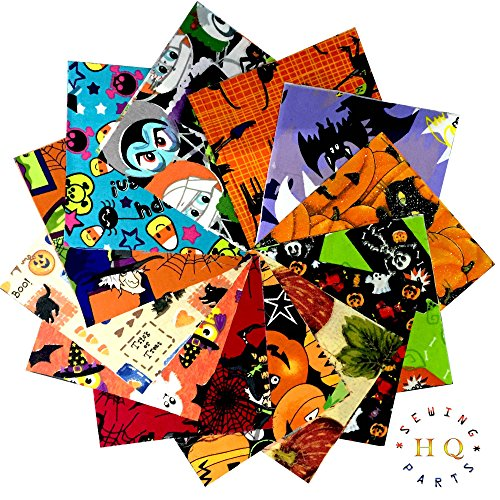 30x Halloween, Patchwork Squares Charm Pack Bundle Pack-12,7x 12,7cm Zoll-100% Baumwolle Quilten Stoff -