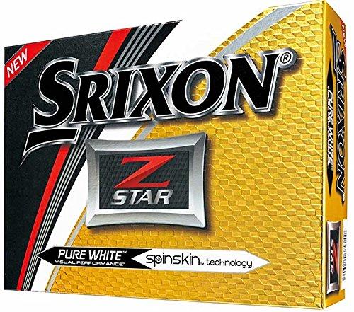 Srixon Lot DE 12 Balles de Golf Z-Star Large Blanc Pur