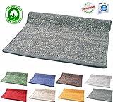 Tappeto Cotone Lavabile Trendy Bagno Cucina Antiscivolo 50x80 55x120 55x180 Sfumato Vari colori Lavabile in Lavatrice (Dark Grey, 50 x 80 cm)