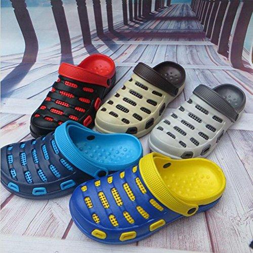 Zapatos De Jardín Para Hombres Zapatos De Playa Thong Slippers Outdoor Leisure Sandals Home Zapatillas De Baño Summer Baotou Beach Shoes Compre 2 Y Obtenga 1 Amarillo Gratis