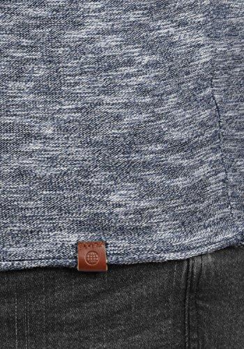 BLEND Bagger Herren Strickpullover Feinstrick Pulli mit Rundhals-Ausschnitt aus 100% Baumwolle Meliert Navy (70230)