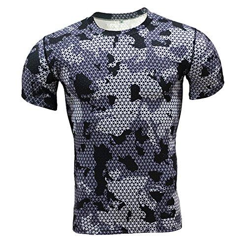 Herren Kompressions T-Shirt Leggings Hose Muskelshirt Tops Sport Funktionswäsche