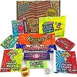 Confezione di Dolci Americani | Caramelle e Cioccolato Regalo | Scatola di Candy | Reeses Baby Ruth Nerds | 13 Pezzi in Confezione Vintage di Cartone