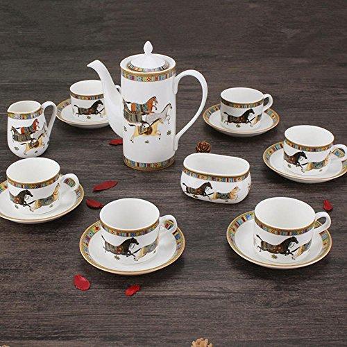 SSBY Céramique porcelaine café, soucoupe et tasse de café européen 15 set , B