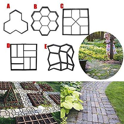 yangGradel Garden DIY Plastic Path Maker Modelo de pavimento Concrete Stepping Stone Cemento Molde de ladrillo