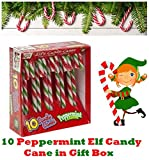 10 Elf Candy Canes Deluxe Elf Behaving Badly Christmas Candy Christmas Tree Decor Peppermint Flavor by Lizzy®