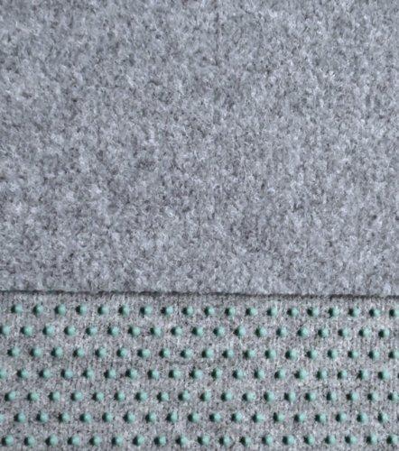 Kunstrasen Rasenteppich 100cm Breite - Farbe hell-grau - mit Drainagenoppen - angenehme weiche Lauffläche - in den Breiten 100-133-150-200-250-400 cm lieferbar (250 x 100 cm)