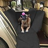 IWILCS Hundedecke Auto, Wasserdicht Autoschondecke für Hunde, Rutschfest Hunde Autodecke, Kann Hängen als Hängematte, Schützt Auto Van SUV von Kratzern, Schmutz und Tierhaaren, mit Ein Haustier Sicherheitsgurt - 63'' x 55''