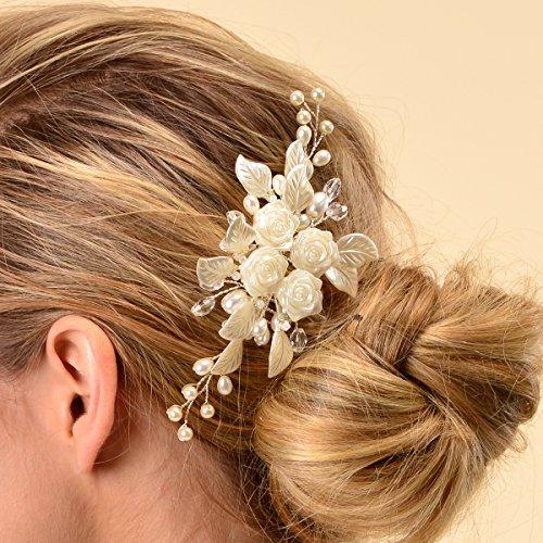 Remedios Elfenbein Haarschmuck Hochzeit Perle Kamm Hochzeitssuite Kopfstück