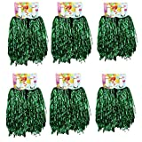 1 Dutzend Cheerleading Pompons, CRIVERS 12pc Cheerleader Pompoms für Ball Tanzen Schick Kleid Nacht Party Sports (Grüne)