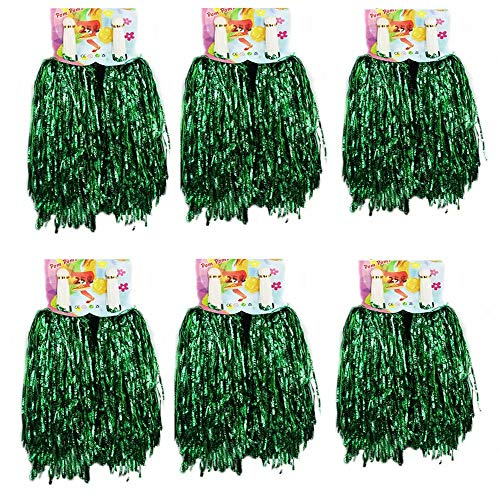 (1 Dutzend Cheerleading Pompons, CRIVERS 12pc Cheerleader Pompoms für Ball Tanzen Schick Kleid Nacht Party Sports (Grüne))