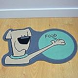TAPISO Velvet - Futtermatte - violett-blau Matte für Fütterung für Hunde - Anti-Rutsch-Matte für Tiere mit Comic Zeichnen - Matte für Schüsseln für Nahrung und Wasser - 30x48 cm eine Matte in einer Größe um Haustiere zu füttern 30 x 48 cm