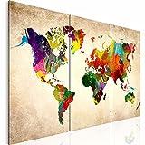 Weltkarte SENSATIONSPREIS !!! -1051339a- XXL Bilder 120x80 cm !!! Wasserfester Leinwanddruck ! 100 % MADE IN GERMANY !!! Vlies Leinwand Wandbild world map Fertig Aufgespannt Kreativ Deko thumbnail