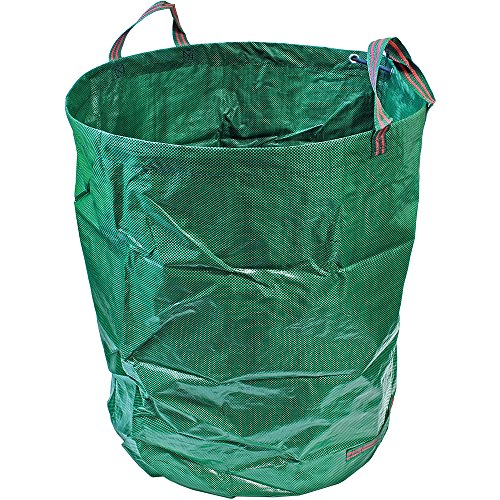 CampTeck 500 Litros Bolsa de Jardín para Residuos Polipropileno Resistente Saco de Jardín Reutilizable