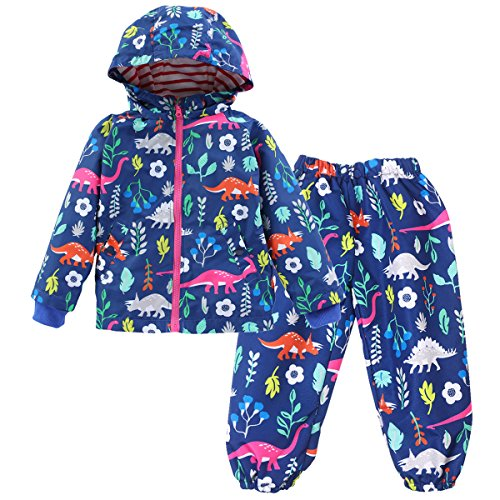 LLXX Little Boys Girls Waterproof Jacket & Trouser Set Outwear Raincoat