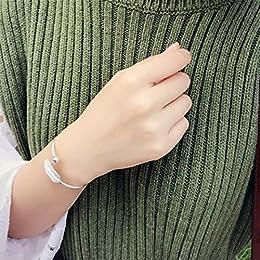 Acheter Superbe bracelet feuille tendance en argent sterling... en ligne