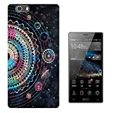 002749 - Colourful Galaxy Stars Henna Aztec Pattern Design