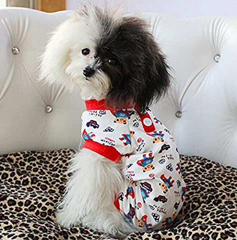 Dogs Kingdom mignon ours cartoon Superman Imprimé vêtements Combinaison pour chien Puppy Pet coton pyjama