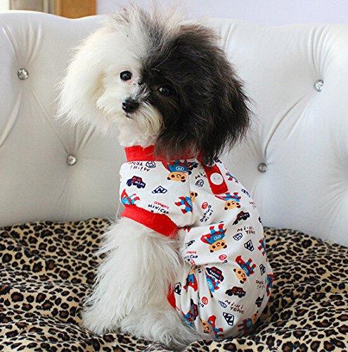 (Dogs Kingdom Cute Bear Superman Cartoon bedruckt Kleidung Jumpsuit Hunde/Welpen Pet Baumwolle Schlafanzüge)