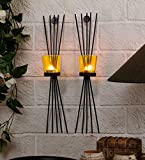 #10: Tied Ribbons Home Decorative Items Decorative Wall Sconce Pack Of 2 (Black, Metal)