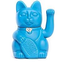 Gatto Fortunato Cinese. Gatto portofortuno. Lucky cat. Maneki Neko. COLORE BLU 12x8x18cm