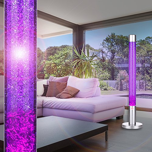 MIA Light Lava Lampe 760mm/ 1x40W/ Glitter/ Violett/ Leuchte Lavaleuchte Deko Steh