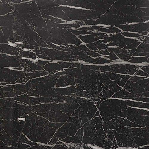 Granit Grau Tür (PVC Selbstklebende Marmor Tapete Weiß Jade Granit Wandaufkleber Grau Schwarz Khika 61 * 500cm (Schwarz))