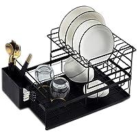 Égouttoir à Vaisselle de Cuisine Égouttoir à Vaisselle Détachable à 2 Niveaux avec porte-ustensiles de Plateau d'eau…
