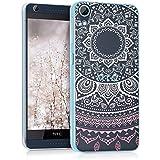 kwmobile Funda para HTC Desire 626G - Case plástico para móvil - Cover trasero Diseño sol indio en rosa claro blanco transparente