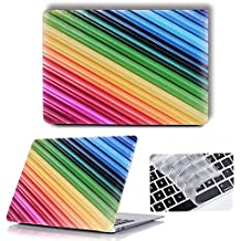Macbook Plastic Hard Case , Maeco Smooth Touch Matte Laptop Case with Keyboard Cover, Colorful Painting Series for Mac Pro 15 Inch 2017/2016 Release with/without Touch Bar A1707 ,Stripe