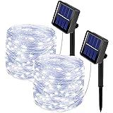 [2 Pacchi] Luci Solari Esterno, 10m 100 LED Catena Luminosa Esterno Filo Luci Led 8 modalità Lucine da Esterno Decorative Per