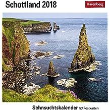 Schottland - Kalender 2018: Sehnsuchtskalender, 53 Postkarten