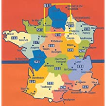 Carte indéchirable Auvergne, Limousin 2014 Michelin