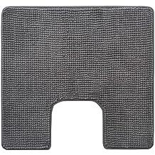 """Ikea Alfombrilla de baño """"TOFTBO"""" mullidaalfombrilla de baño–microfibra muy absorbente–55x 60cm–lavable a máquina–varios colores, microfibra, gris, 60 x 55 cm"""