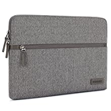"""DOMISO 10.1"""" Laptop Pouch Sleeve Canvas Case Tablet Protective Bag for 10.1-10.5 Inch Laptops/Kids Tablet / 9.7"""" iPad Pro / 10.1"""" Lenovo Tab 4 Plus/Asus/Acer/HP, Grey"""