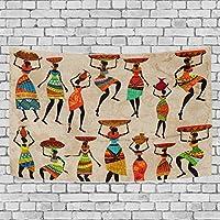 Coosun Tapisserie murale rétro Belle africaine Femme Décor Tapisserie murale décorative Tapis, 152,4x 129,5cm, Tissu, multicolore, 90x60(in)