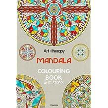 Art therapy. Mandala. Colouring book anti-stress