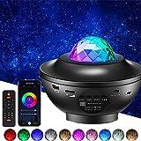 YunLone Projecteur Ciel Étoilé,projecteur de veilleuse Galaxy Star,projecteur de lumière étoilée de musique 10 couleurs avec