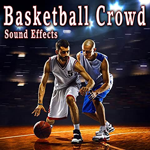 Basketball Free Throw Sequence with Dribble, Net Swish, Crowd Taunts and Cheers