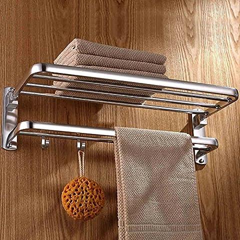 ERRU- Europea semplice bagno di alluminio dello spazio portasciugamani doppio Towel Rack Towel Rack asciugamano appeso ( dimensioni : 50cm )