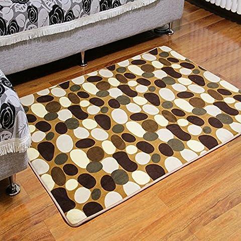 QHGstore Coralina del paño de cocina antideslizante Mat Felpudo Alfombra de baño de entrada alfombra del piso Piedra de café 40*60cm