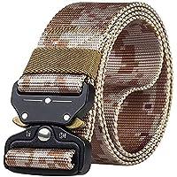 Liquidación JIER Hombres Cinturón de Lona, Hebilla de Plástico Cinturón de Secado Rápido Transpirable Hipoalergénico Cinturón Recreación al Aire Libre Fitness Ejercicio