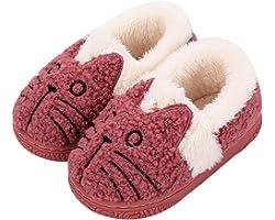 KVbabby Chausson Enfant Fille Peluche Pantoufle Fille Chausson Garçon Chaussons Hiver Antidérapants bébé Chaussures pour Femm