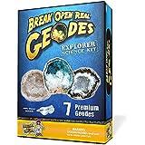 Kit de Ciencias para Explorar Geodas - Abre 7 Magníficas Rocas y Encuentra Cristales!