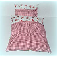 Decke und Kissen für Puppenbett, Puppenwagen, 2-tlg.