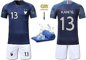 Fine Finet Maillots de Sport Garçon Football T-Shirt et Short France 2 Étoiles Vêtements de Football Beau Populaire pour...